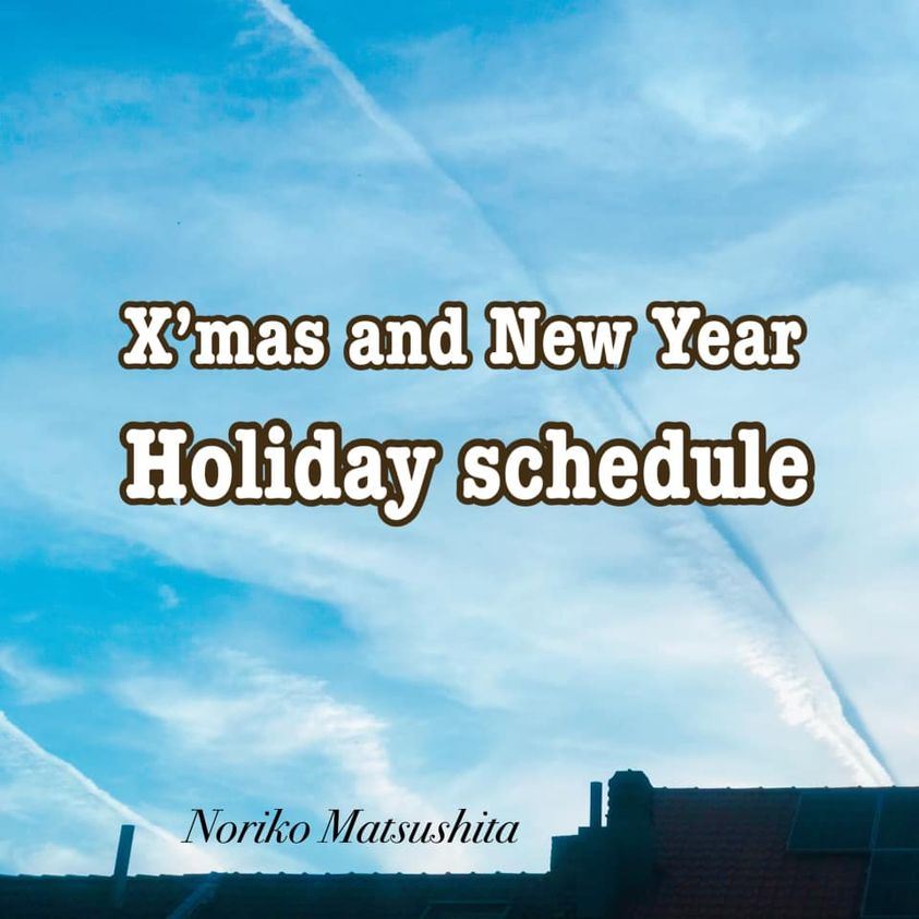 年末年始の営業時間/X'mas and new year holiday schedule